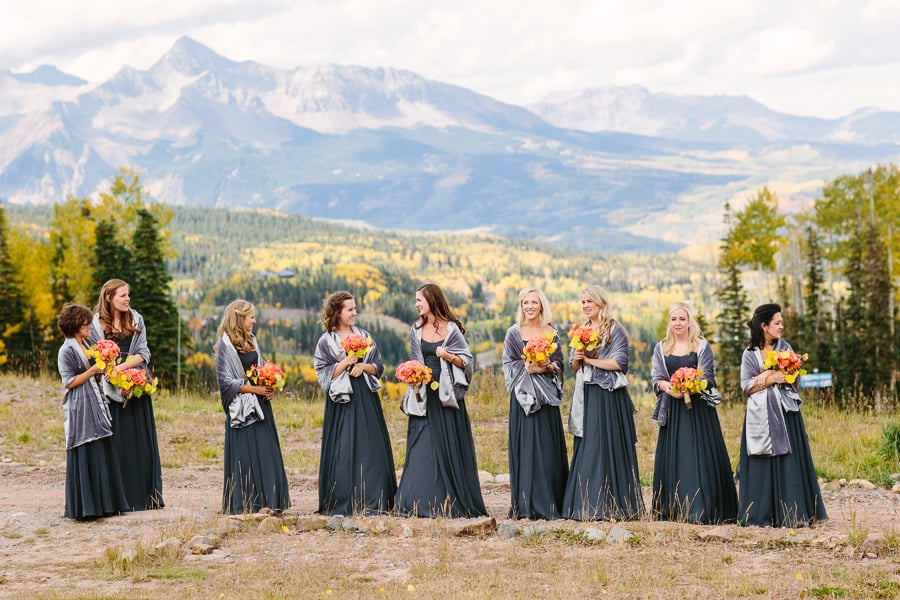 Bridesmaids at San Sophia Wedding | Telluride photographer Cat Mayer Studio | www.catmayerstudio.com