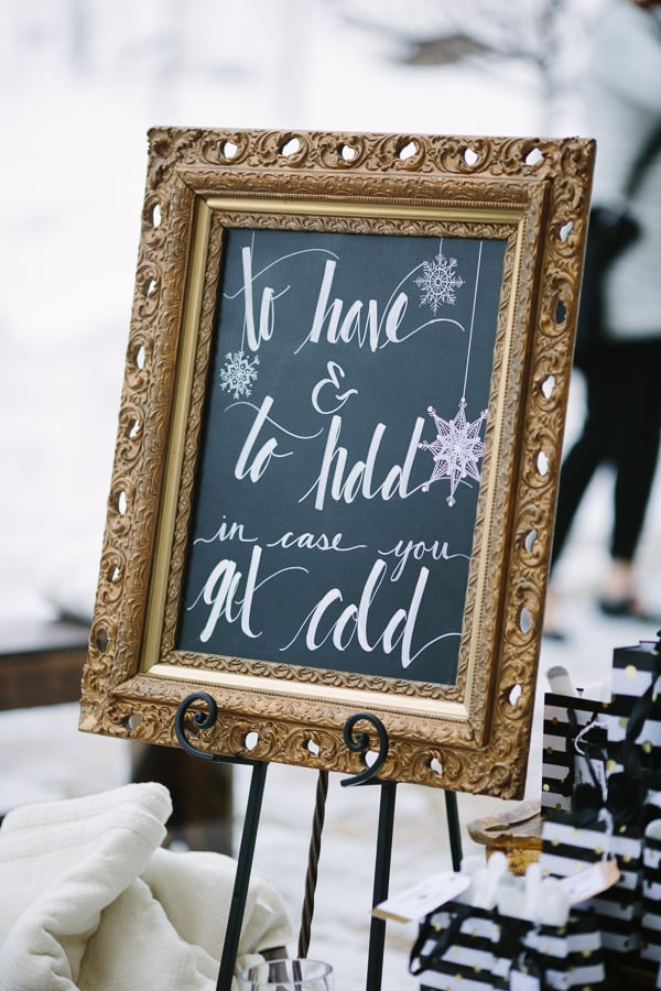 To have and to hold chalkboard sign | Winter Beaver Creek Wedding | Photographer Cat Mayer Studio www.catmayerstudio.com
