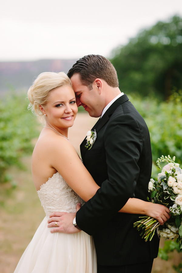 Bride and groom at Two Rivers Winery | Colorado Vineyard Wedding | Grand Junction photographer | www.catmayerstudio.com