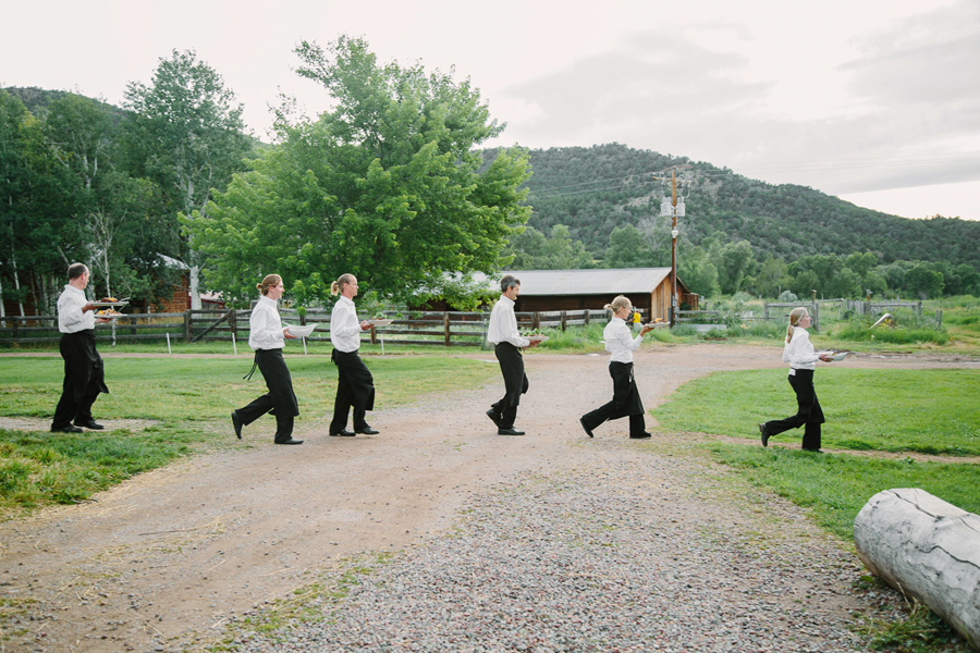 Aspen wedding waiters | Photography by Cat Mayer Studio www.catmayerstudio.com