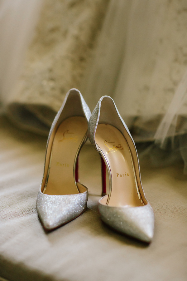 Bride's Christian Louboutin wedding shoes | The Little Nell | Aspen wedding photographer Cat Mayer Studio www.catmayerstudio.com