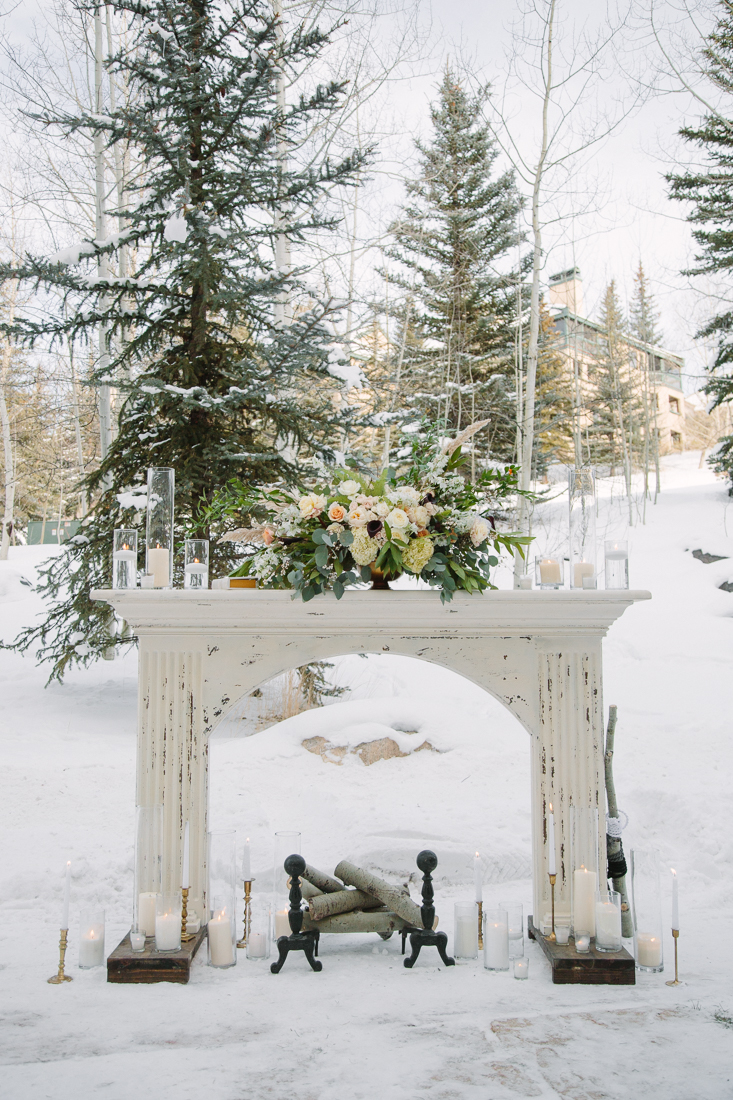 Cat Mayer Studio | www.catmayerstudio.com | Vail Wedding Photography | Stonewood Vintage fireplace wedding rentals