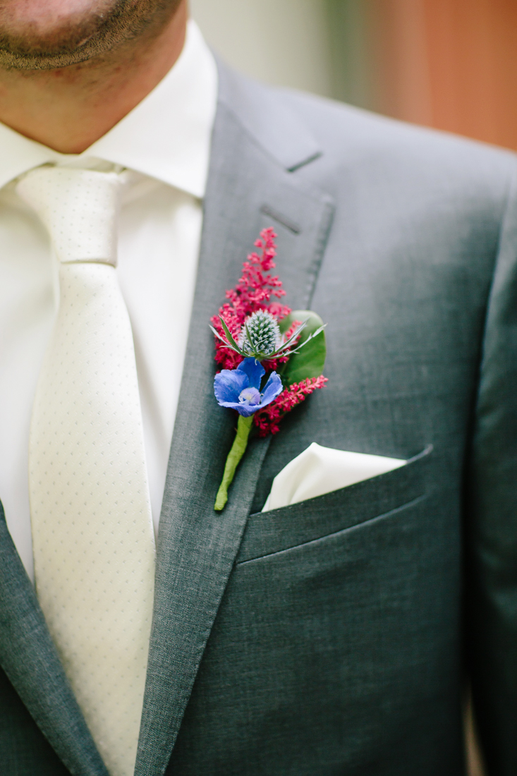 Blue and Red Wildflower Boutonniere | Photography by Cat Mayer Studio | www.catmayerstudio.com