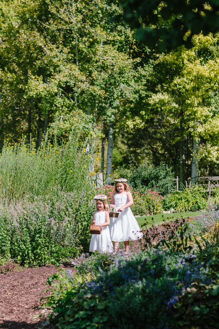 Flower Girls Walking Down Outdoor Isle | Cat Mayer Studio | www.catmayerstudio.com