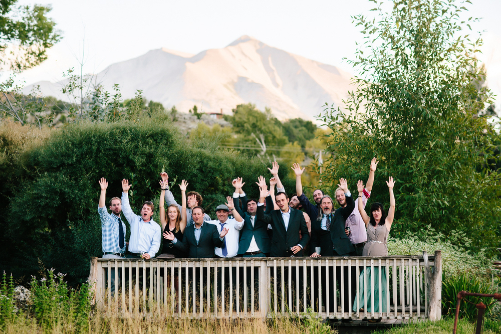 Wedding Party in Front of Mount Sopris | Cat Mayer Studio | www.catmayerstudio.com