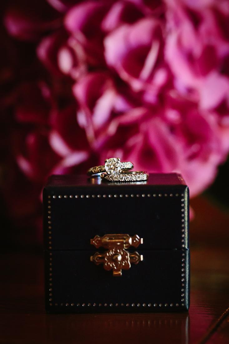 Telluride Wedding Photography | Wedding Ring with Pink Flower Background | Cat Mayer Studio | www.catmayerstudio.com