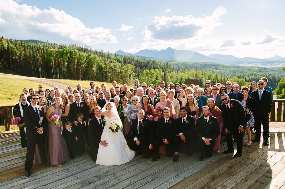 Telluride Wedding Photography | Guests Smile at Camera After Rustic Telluride Wedding | Cat Mayer Studio | www.catmayerstudio.com