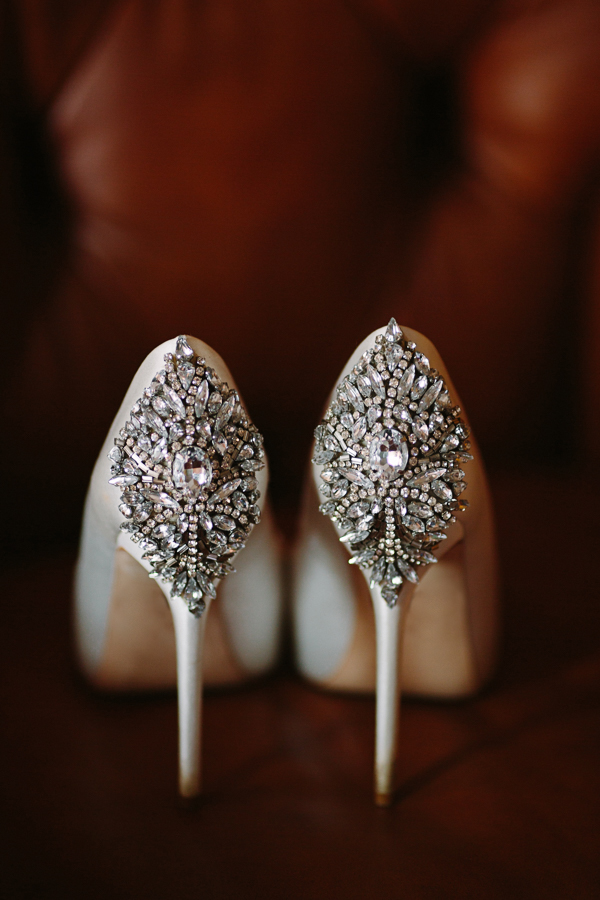 Gateway Canyons Wedding Shoot | Bride's Jeweled Pumps | Cat Mayer Studio | www.catmayerstudio.com