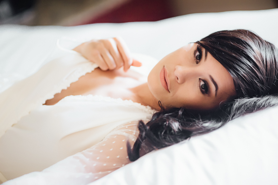 Elegant Bridal Robe Boudoir at Gateway Canyons | Cat Mayer Studio | www.catmayerstudio.com