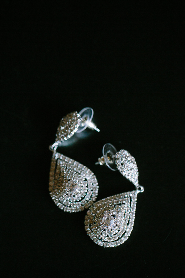 Diamond Tear Drop Wedding Earrings | Cat Mayer Studio | www.catmayerstudio.com