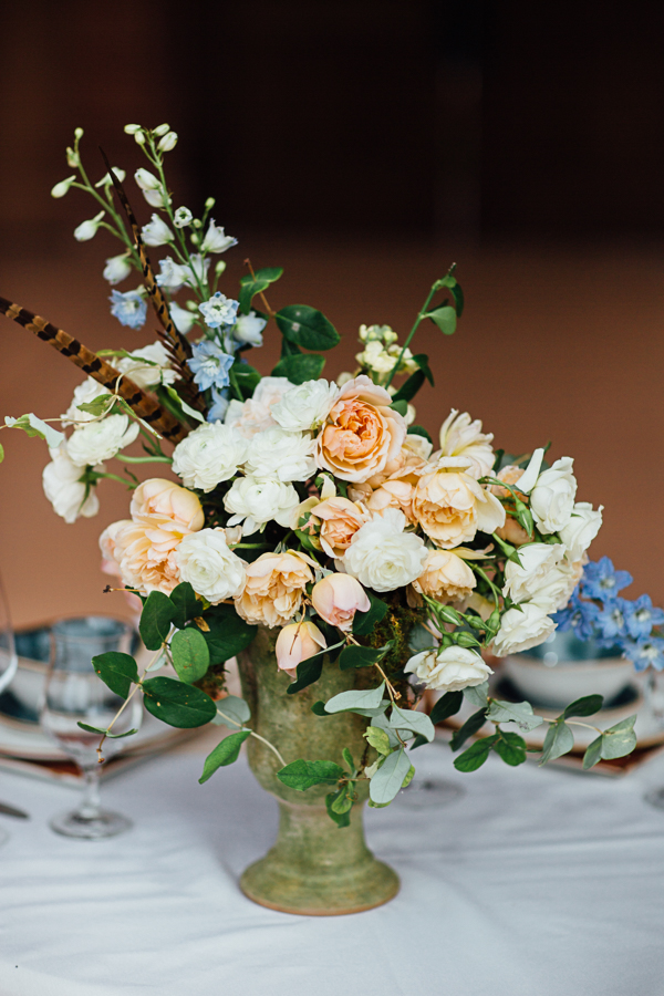 Wedding Flowers with Feathers and Rustic Colors | Cat Mayer Studio | www.catmayerstudio.com