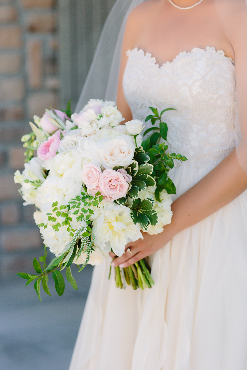 Summer Flowers Held By Bride | Cay Mayer Studio | www.catmayerstudio.com