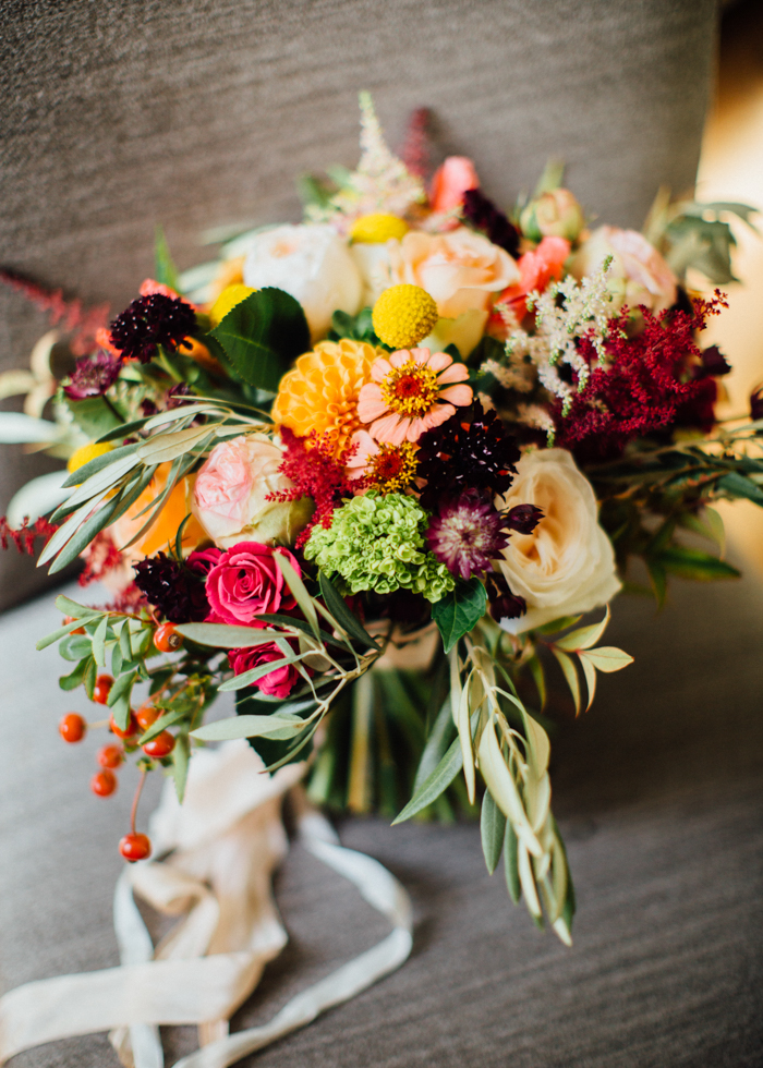 Mountain Flowers of Aspen bridal bouquet