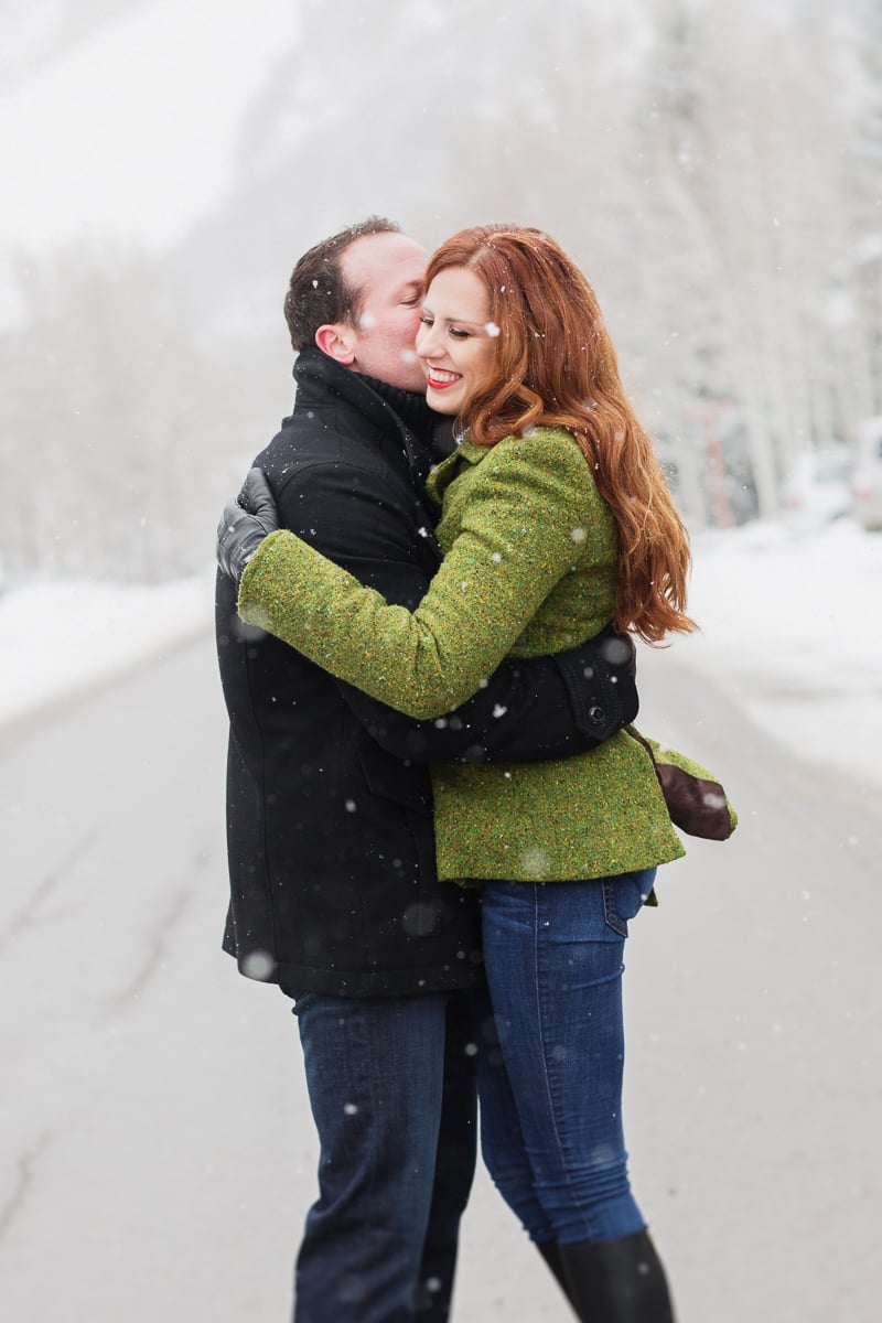 Snowy Aspen Engagement