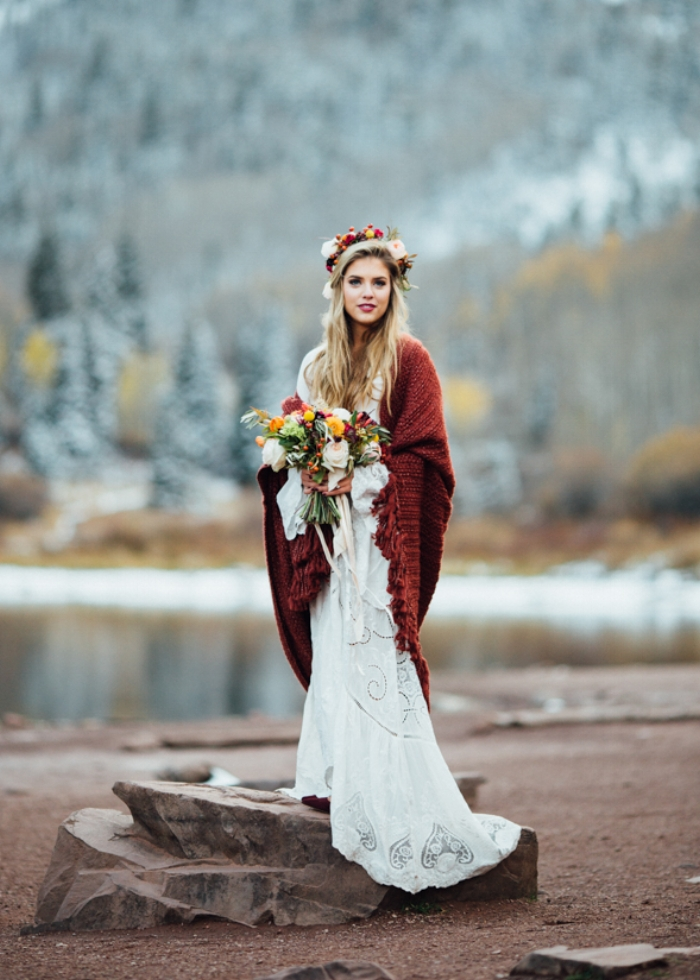 Cozy Aspen wedding at Maroon Bells