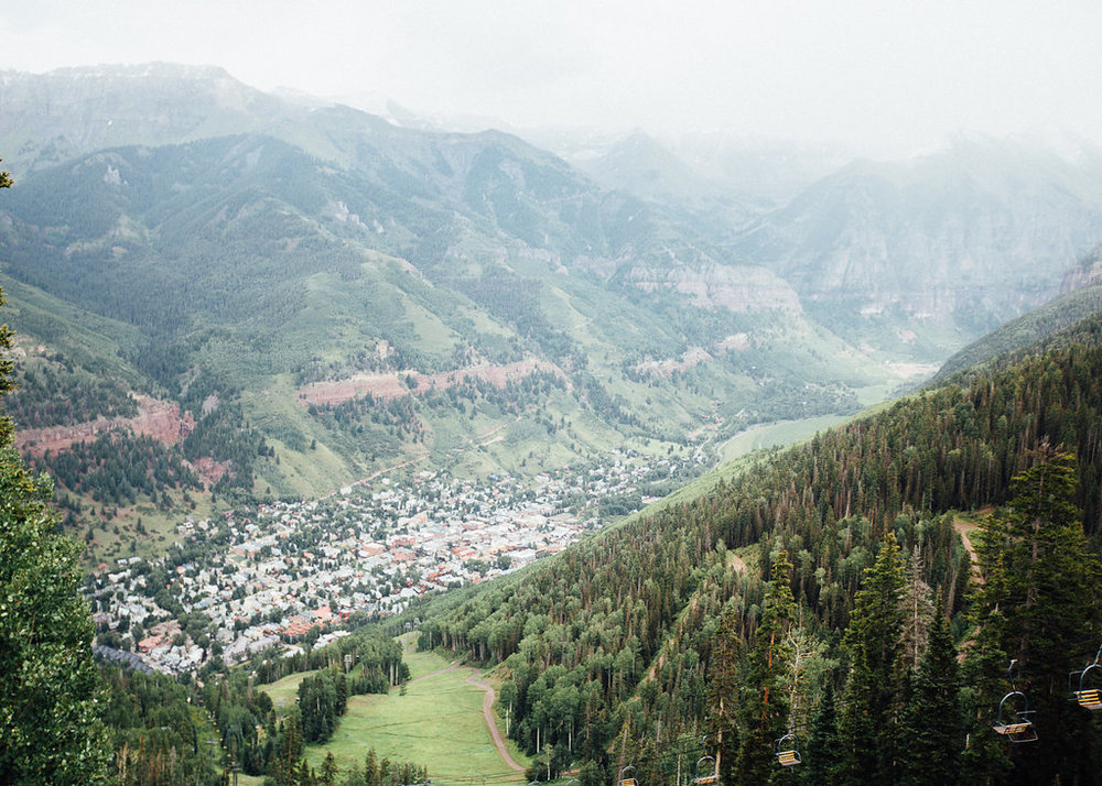 View of Telluride from San Sophia