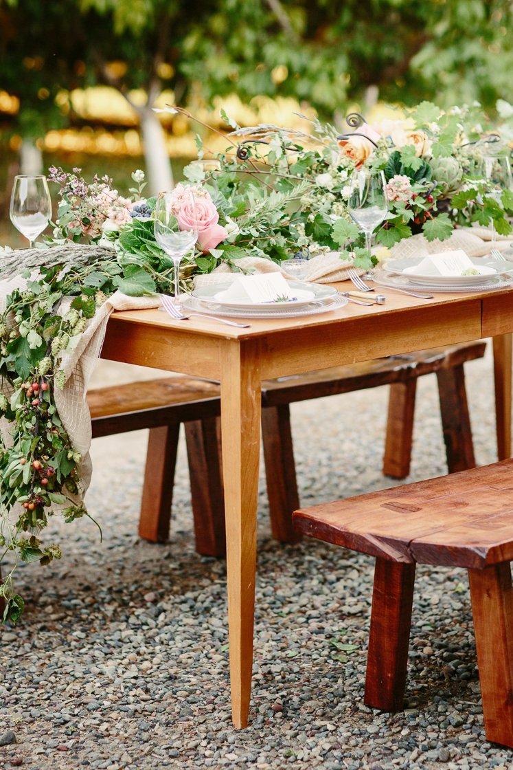 Colterris Winery/High Country Orchards Wedding table