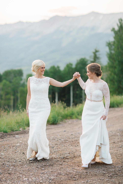 Destination gay wedding at Gorrono Ranch in Telluride, Colorado. Photo: Cat Mayer