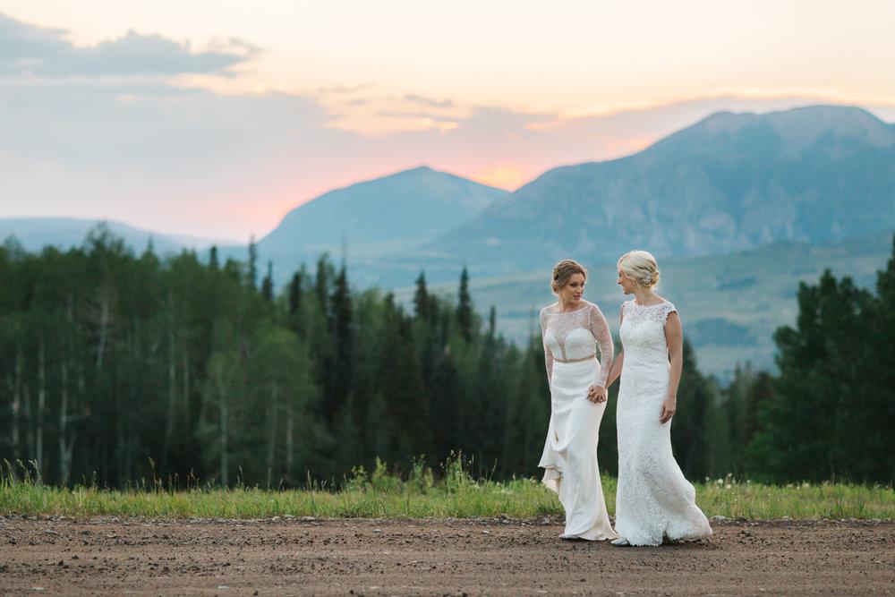 Two Brides Wedding in Telluride