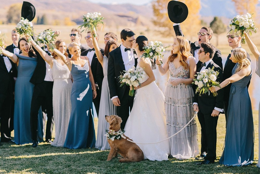 Cat Mayer | Wedding Party at Chaparral Ranch | Aspen Wedding
