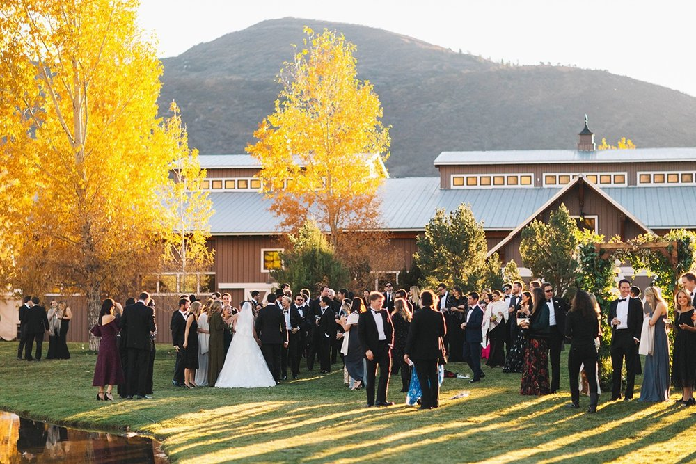 Gold Leaf Events Destination Wedding at Chaparral Ranch in Aspen, Colorado