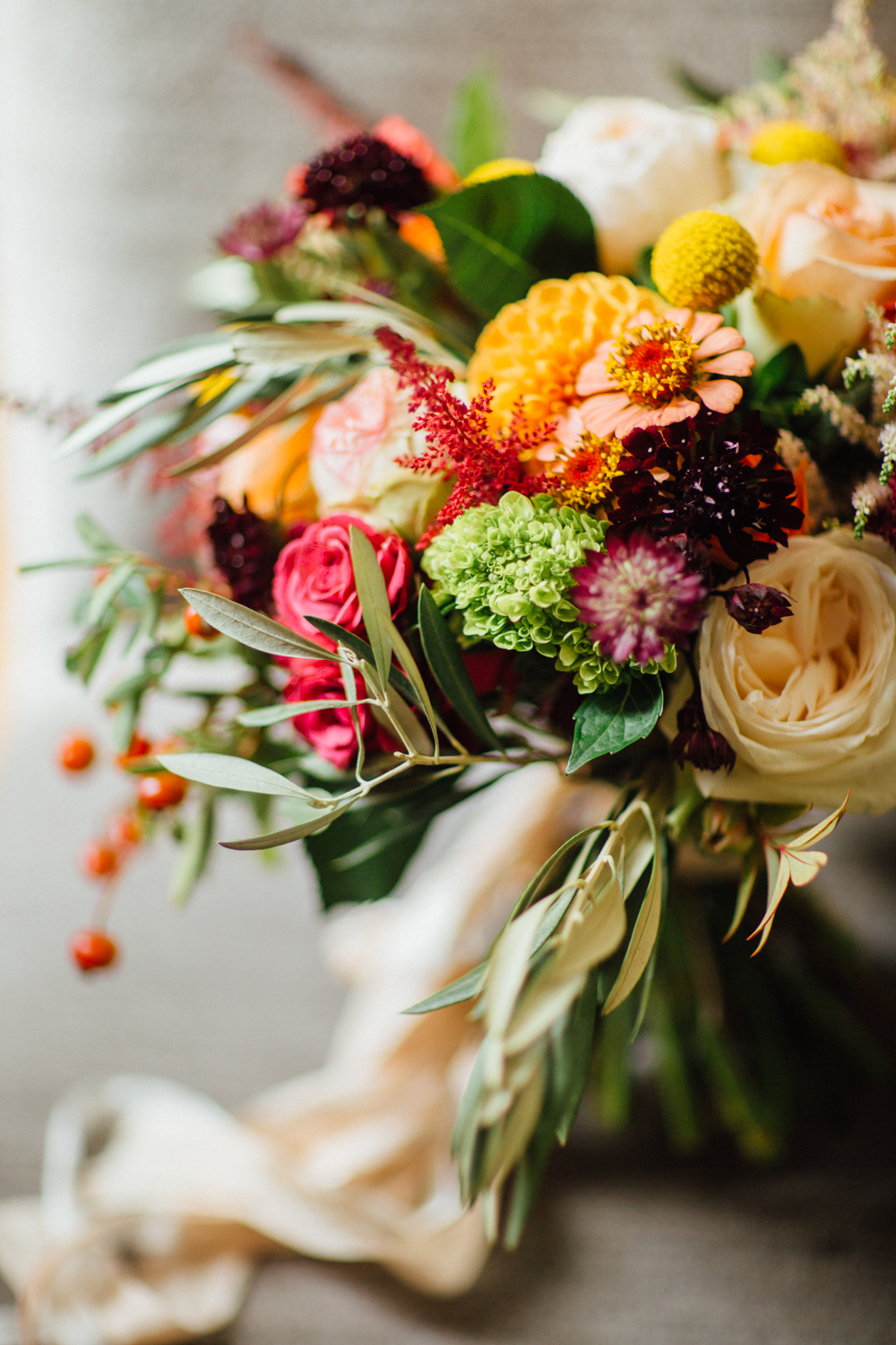 Mountain Flowers of Aspen Wedding Bouquet