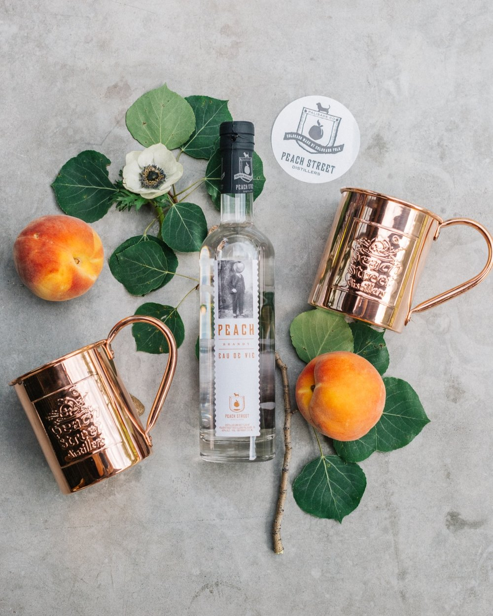 Peach Street Distillers and Palisade Peaches | Wedding favors at Zach's Cabin Bachelor Gulch Beaver Creek Wedding | Cat Mayer.JPG