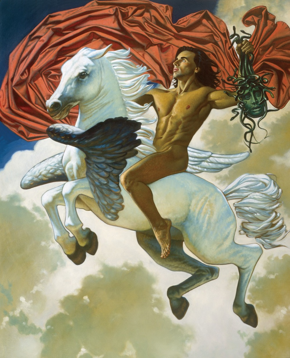 Perseus on Pegasus