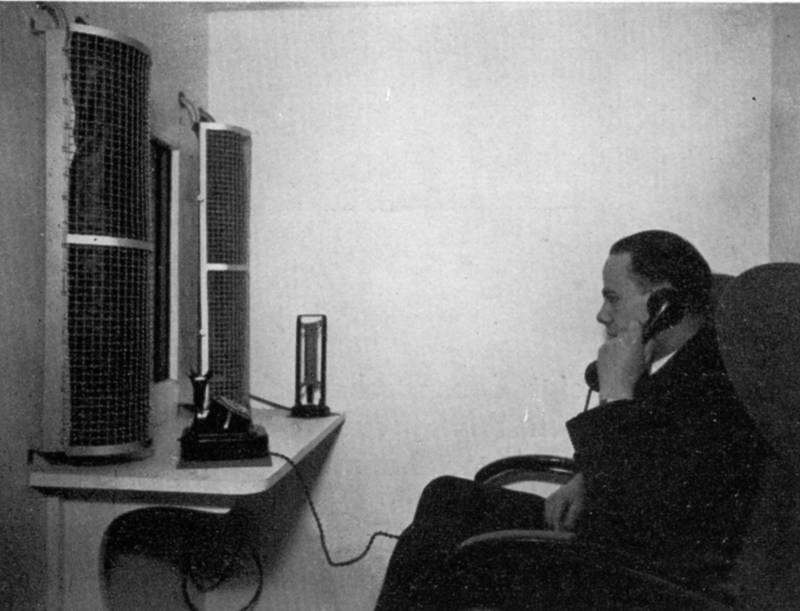 "The ""Gegensehn-Fernsprechanlage"" (visual telephone system)"