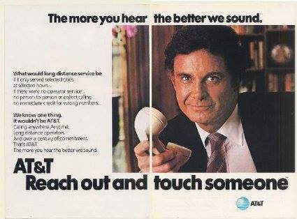 "1984 AT&T ""Reach Out and Touch Someone"" advertisement"