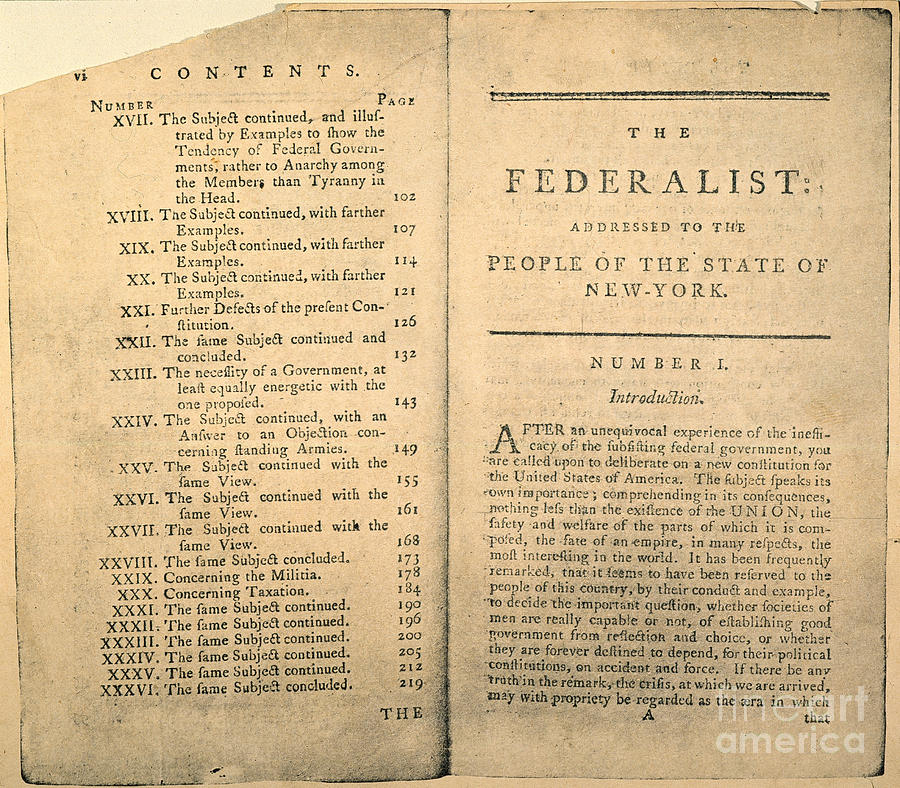 The federalist papers no 1
