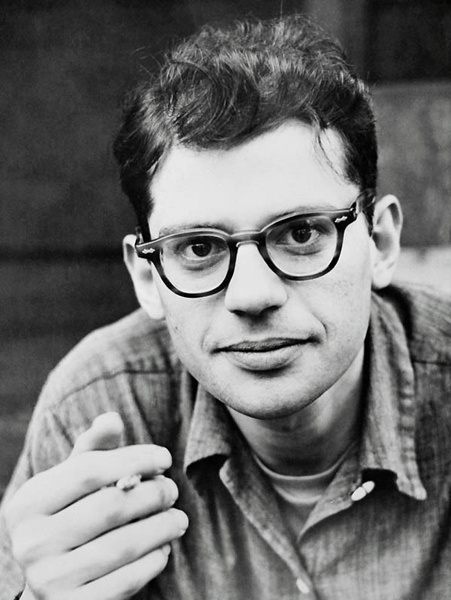 "Allen Ginsberg, a gay Jewish leader of the Beat movement and LGBTQIA+ writer/poet who inspired the community to engage in ""flower power,"" or nonviolent rebellion. He wrote very bluntly about homosexuality, with his most famous work being ""Howl."""