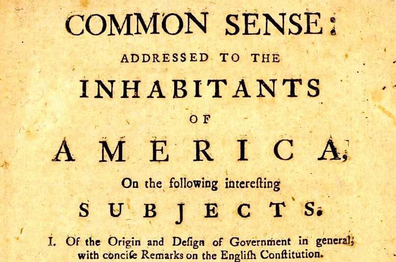Thomas Paine's Common Sense, 1776.   Photo by   Daily Herd Management