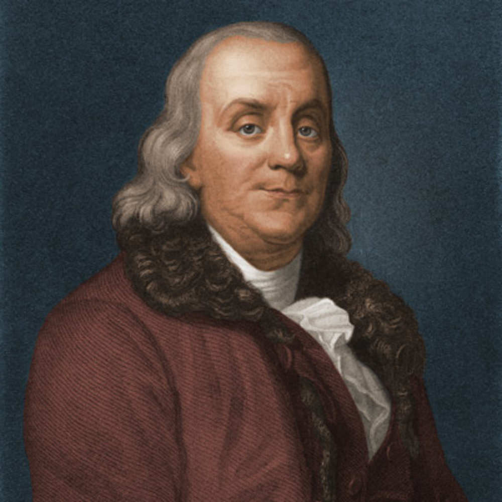 "Benjamin Franklin (1706-1790) - A scientist, diplomat, inventor, printer/publisher and politician- Benjamin Franklin was a man of many talents who, even today, is highly respected (so much so that he's on the $100 bill). He never served in an official U.S.A political position (though he was ""president"" or governor of Pennsylvania for three years when it was still a colony), but his work was crucial in both the instigation of the revolution and the framework for the country to come afterwards. Franklin is well-known for being a drafter of several important U.S. documents, including the Declaration of Independence. Franklin also wrote ""Poor Richard's Almanack,"" a forecasting book featuring poetry, weather predictions, and astronomy."