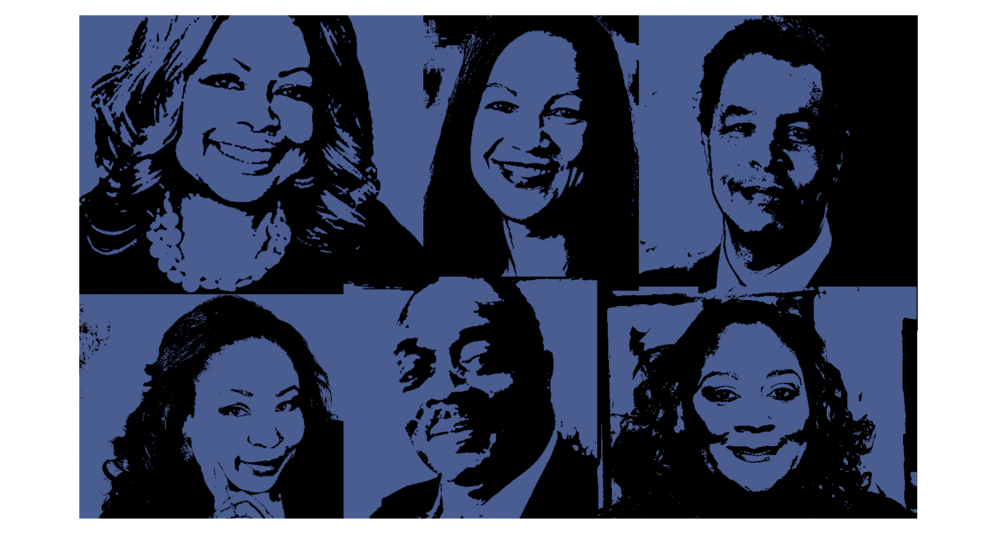 Clockwise from top left: Judith Harrison, Denise Hill, Neil Foote, Helen Shelton, Terry Edmonds and Brandi Boatner