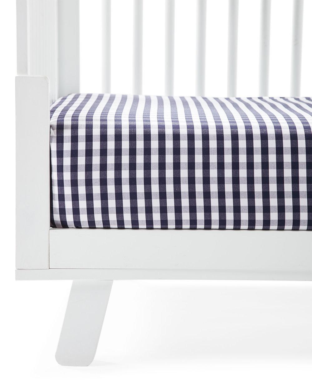 Serena and Lily Gingham Crib Sheet