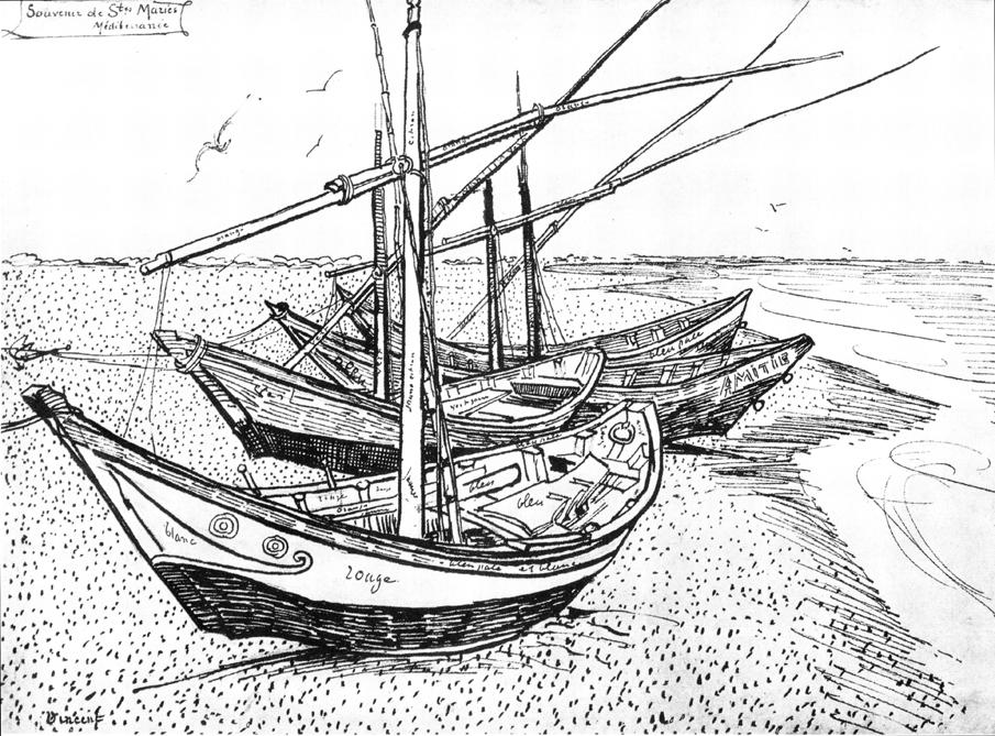 Van_Gogh_-_Fischerboote_am_Strand_von_Saintes-Maries