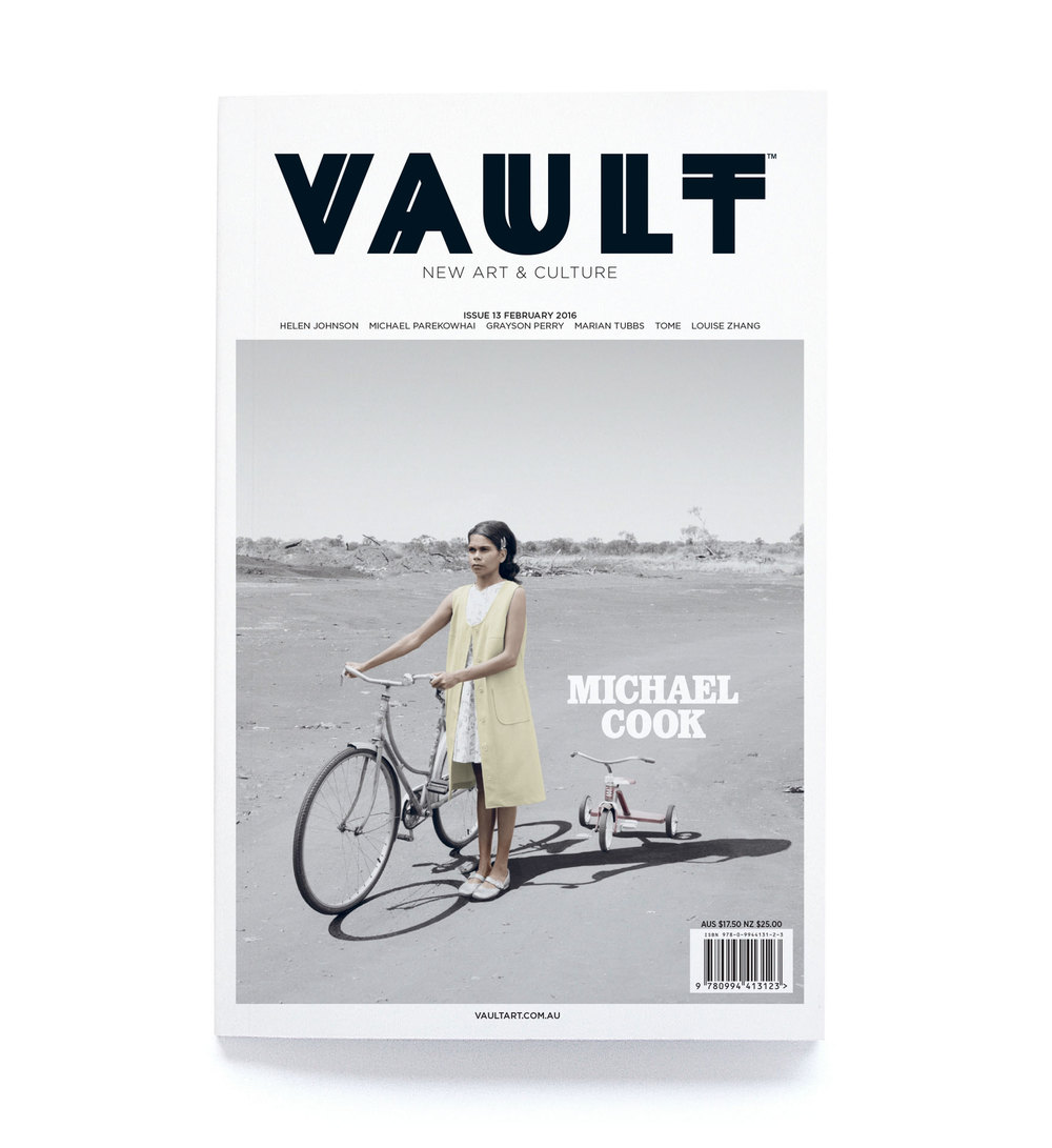 VAULT New Art and Culture magazine is a quarterly publication focusing on Australian, New Zealand and international visual arts as well as fashion, architecture, design, literature and other forms of creative expression. It prides itself on inventive and intelligent writing and original perspectives. Find out more here.