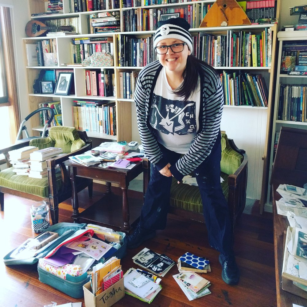 Tasha is a writer, mess maker, zinester, diy enthusiast and a workshop facilitator for A Zine Thing. She will be selling some of her zines and hoping to chat with you about AZT workshops and other creative things. Find out more here.