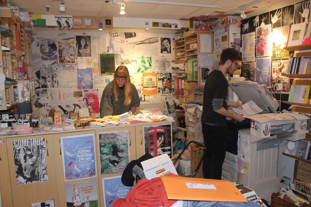 Sticky Institute  is an Artist Run Space from Melbourne that is dedicated entirely to zines. The shop has operated out of Shop 10, Campbell Arcade, Melbourne (under Flinders Street Station) since 2001 and has supported over 15,000 individual zine tites in that time. Sticky Institute also coordinate the Festival of the Photocopier every February, a four day zine fair in Melbourne including a 240 stall strong zine fair in the Melbourne Town Hall.  Find out more here.