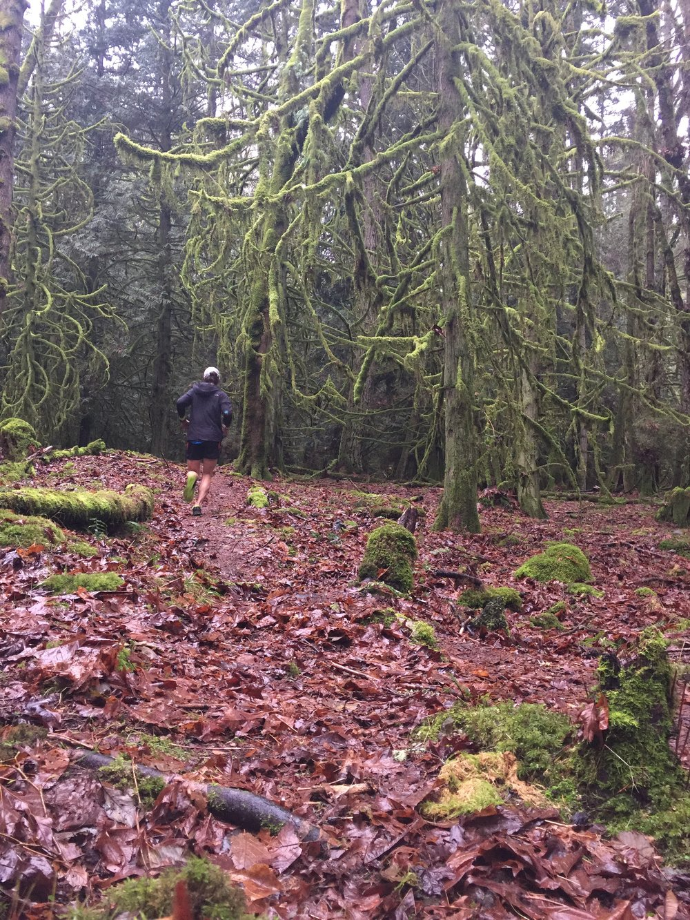 Grinding out some cold, wet winter training on Saltspring Island