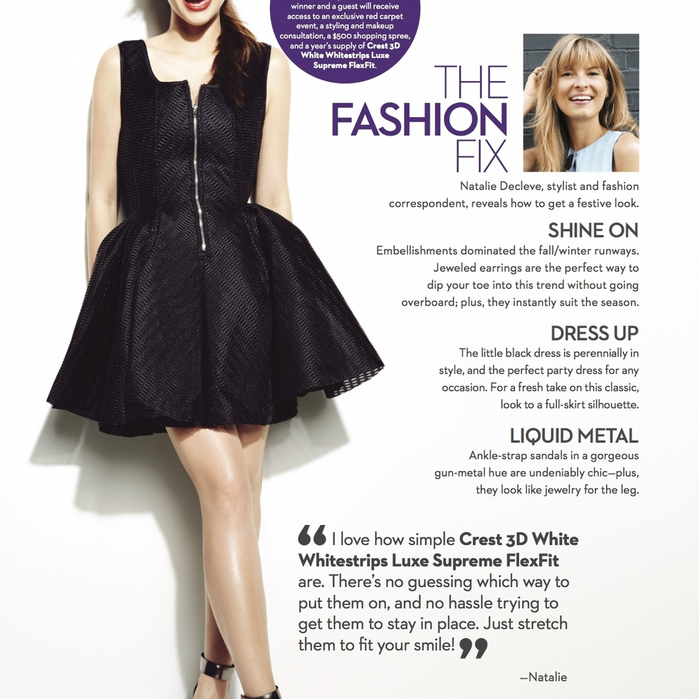 MARIE CLAIRE   The Fashion Fix: Natalie Decleve reveals how to get a festive look