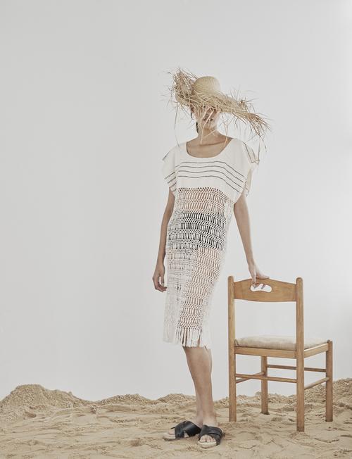 Macrame Fringe Dress by Jaline $375
