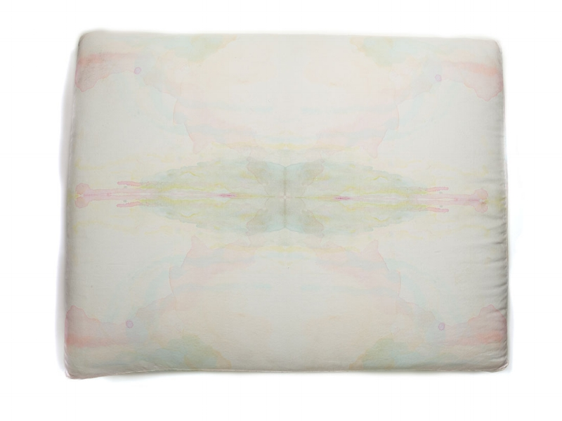 Aquarelle Maison Hand-painted Floor Cushion $400