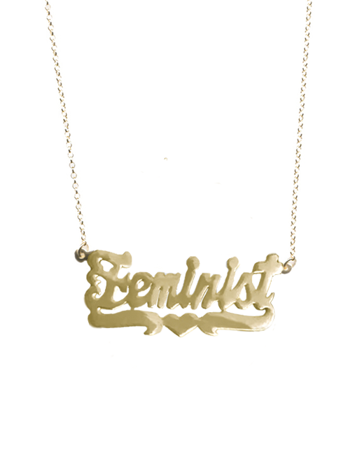 Delores Haze Feminist Necklace $153