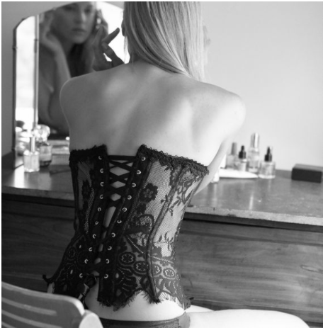 True & Co Lace Corset $78