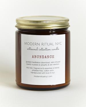 Modern Ritual Intention Candle in Abundance $18