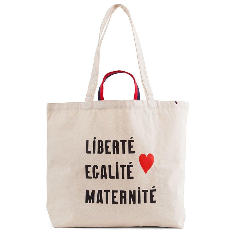 """Clare V """"Liberté, égalité, maternité"""" Jumbo Tote or Diaper Bag $65"""