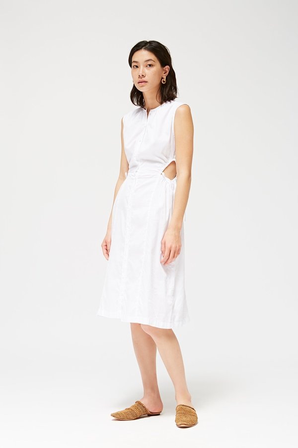 Lacausa Sweet Tea Dress White $154