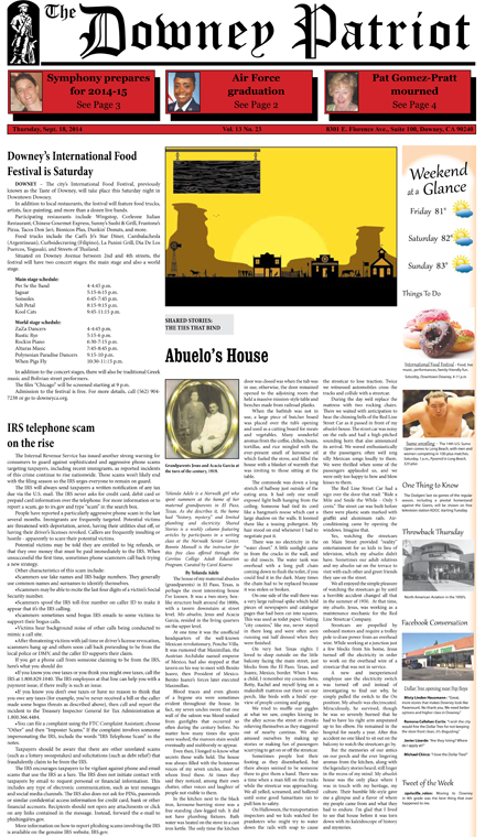 Vol. 13, No. 23, September 18, 2014